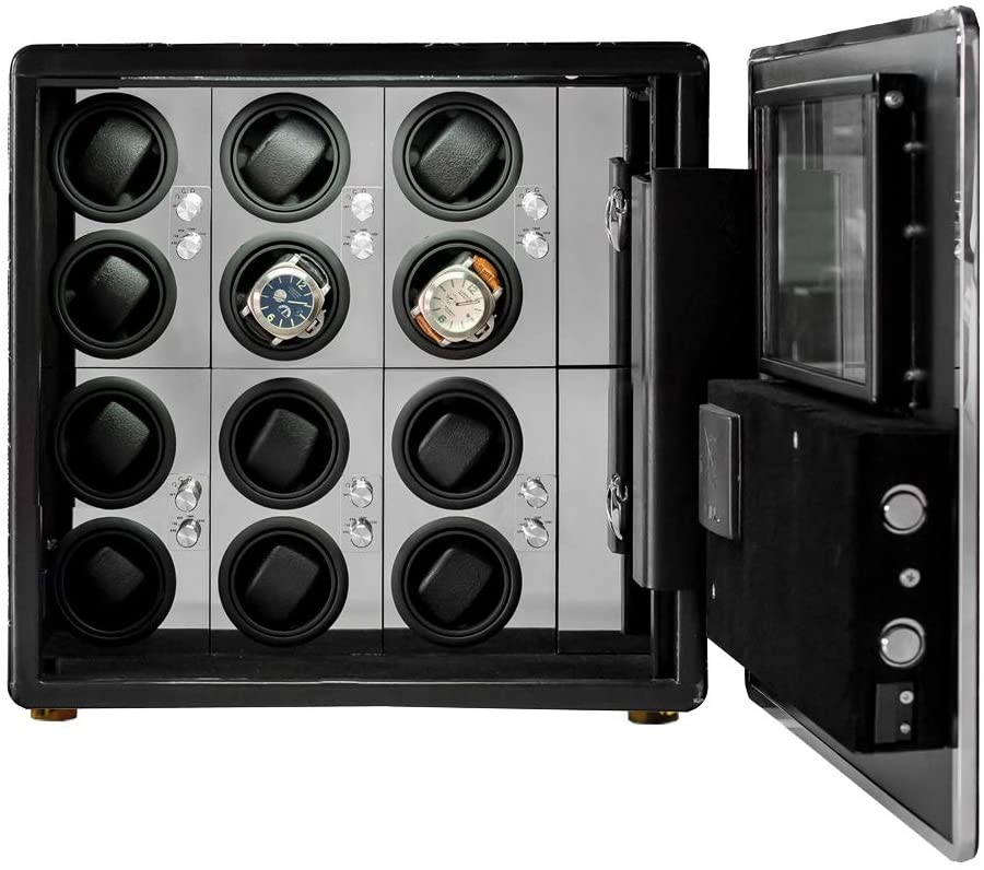 LOEAPEA Automatic Watch Winder Safe Box for 12 Watches
