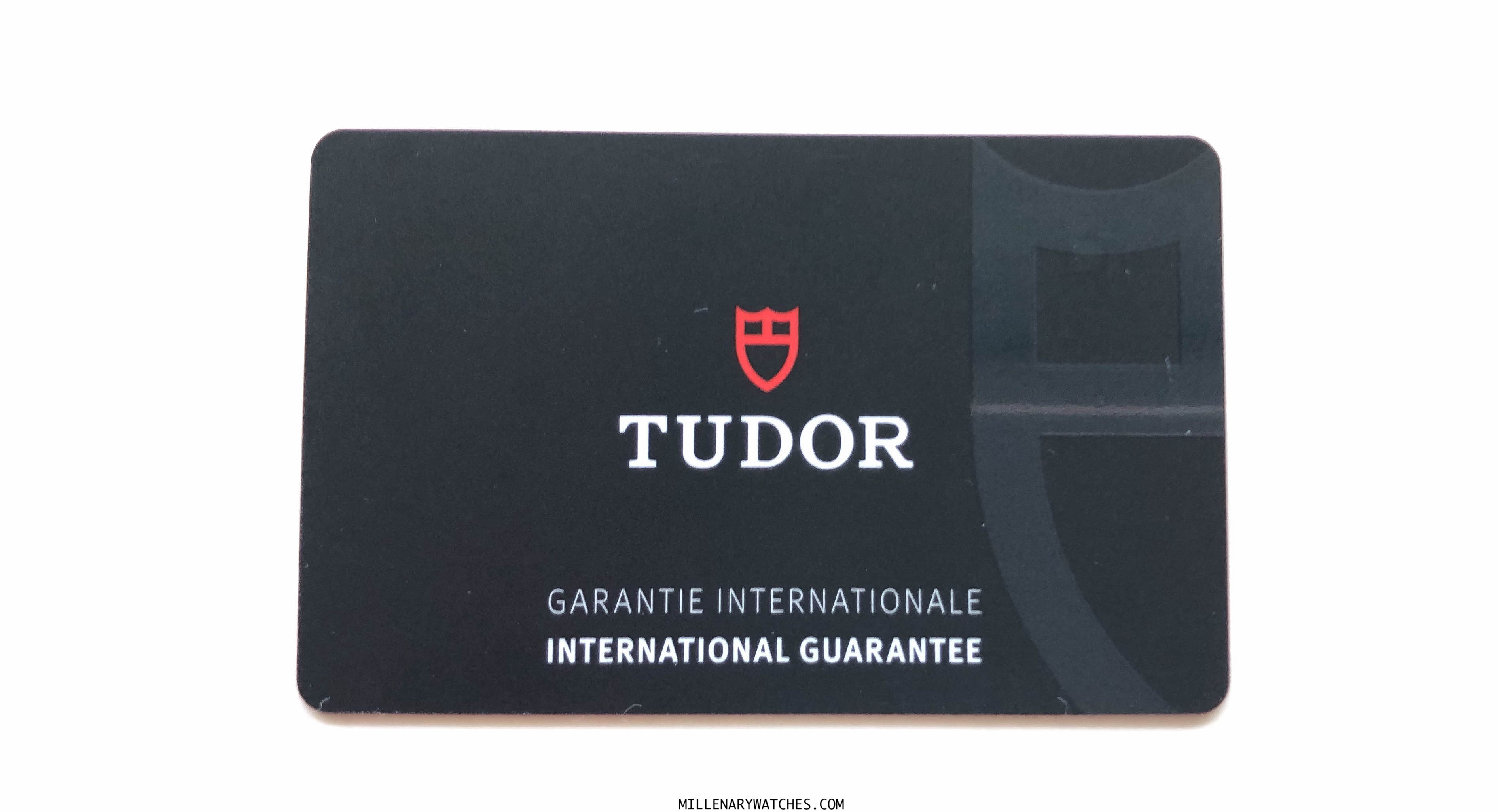 New Tudor Warranty card 2020