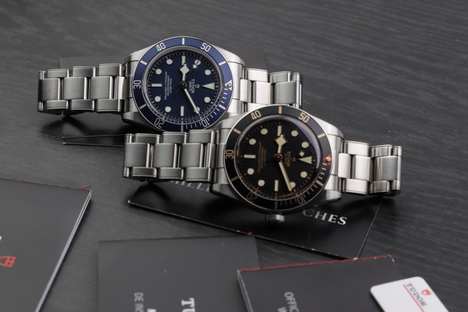 Tudor Black Bay 58 79030N and Tudor black Bay 58 79030B Blue