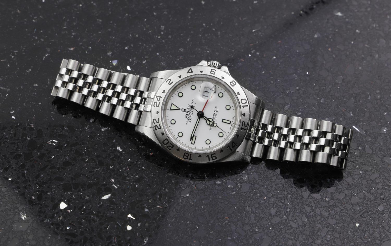Rolex Explorer II 16570 White dial jubilee bracelet