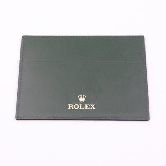 Original Rolex Leather Warranty Cardholder (Old Generation Dark Green)
