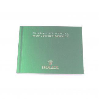 Rolex Warranty Booklet - Guarantee Manual Worldwide Service