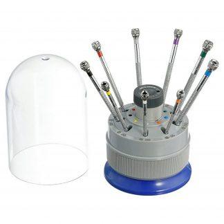Optima 55-608 Nine Swivel Head Screwdrivers and Stand Watch Repair Kit