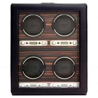 WOLF 459156 Roadster 4 Piece Watch Winder with Cover