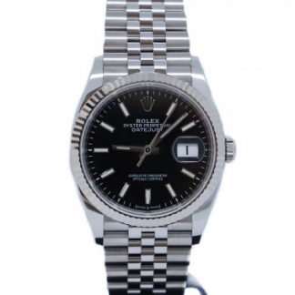 Rolex Datejust 36mm Jubilee Black Dial 126234 Unworn 2020