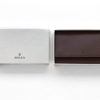 Rolex leather travel pouch for 3 watches