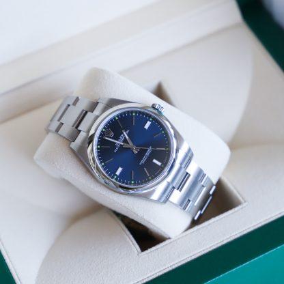 Rolex Oyster Perpetual 39MM Blue Dial 114300 Unworn 2020