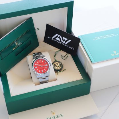 Rolex Oyster Perpetual 41 124300 Coral Red 2020 Novelty Unworn