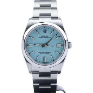 "Rolex Oyster Perpetual 36 126000 Turquoise Blue ""Tiffany"" Novelty Unworn 2020"