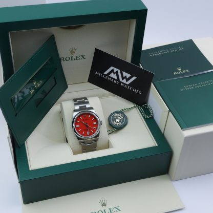 Rolex Oyster Perpetual 36 126000 Coral Red Dial Novelty Unworn 2020
