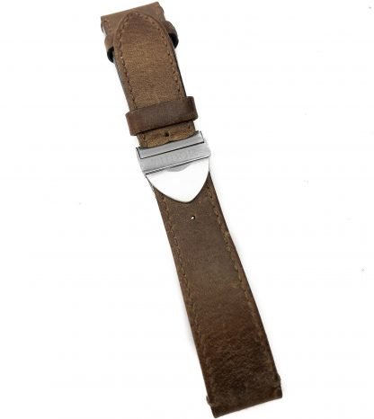 Tudor 22MM Brown Leather Strap With Deployment Clasp