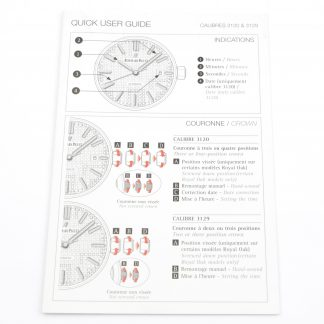 Audemars Piguet Royal Oak Quick User Guide Brochure