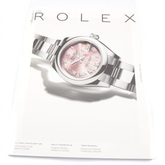 Rolex Magazine Numero Sette (Issue 7) in Italian