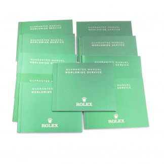 Rolex Warranty Booklet - Guarantee Manual Worldwide Service Set of 10