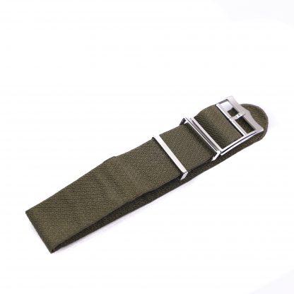 Tudor khaki green fabric strap