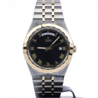Tudor Royal Day-Date 41 Steel Yellow Gold Black Roman Dial New 2020