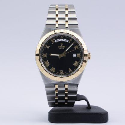 Tudor Royal Day-Date 41 Steel Yellow Gold Black Roman Dial New 2020