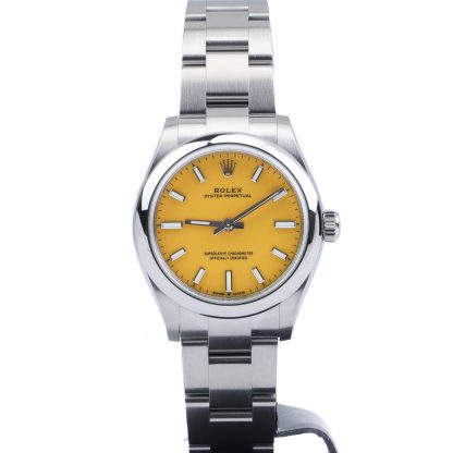 Rolex Oyster Perpetual 31mm 277200 Yellow Dial Unworn 2020
