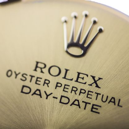 Rolex Day-Date Champagne Diamond Dial + Hands