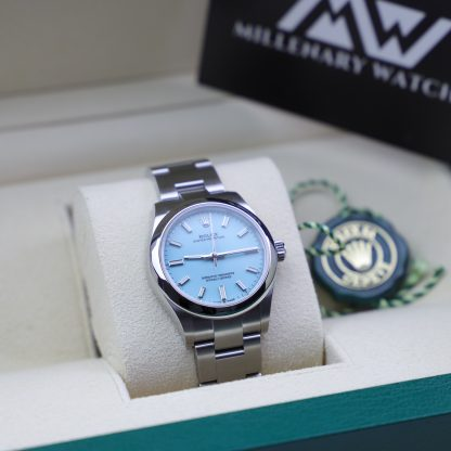 """Rolex Oyster Perpetual Turquoise 31mm 277200 """"Tiffany"""" Unworn 2020"""