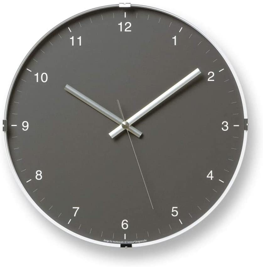 Wall Clock Modern Creative Simple Modern Clock Home Living Room Silent Clock Metal Quartz Clock 12 Inch (Color : Elegant Gray)