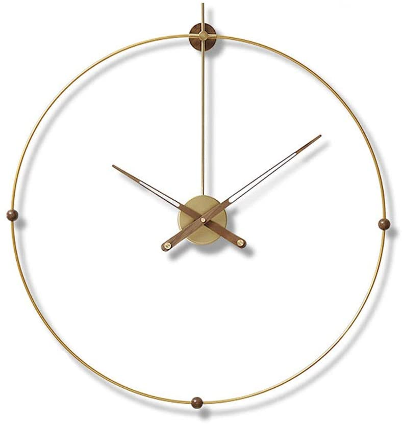 Wall Clock Modern Simple Mute Clock Living Room Decoration Clock Office Fashion Clock (Color : Gold, Size : 80cm)