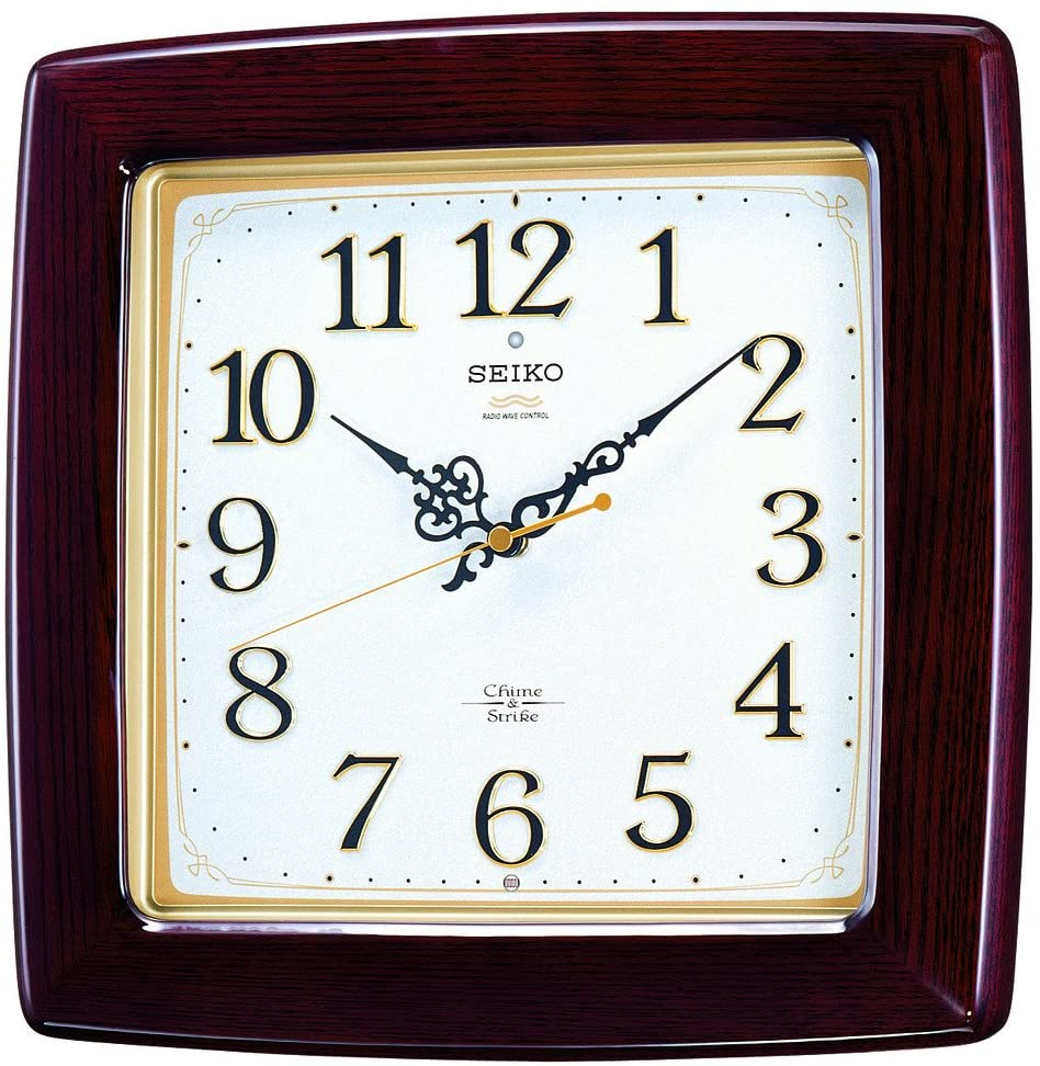 Seiko Clock Clock Wall Clock Chime and Strike Radio Clock Twin -Pas RX211B