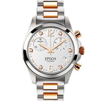 Epoch First Lady Chronograph Gold White