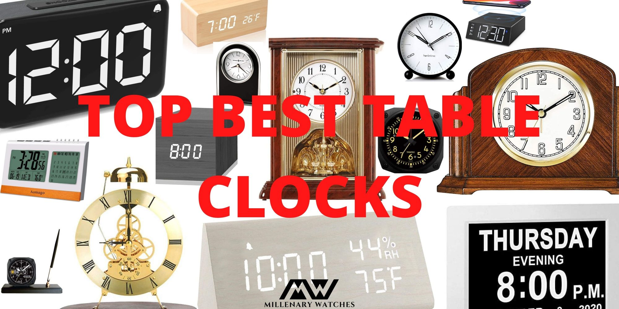 Top 18 Best Desk Clocks [Guide & Review]