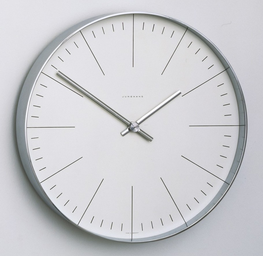Junghans Max Bill Modern Wall Clock with Lines 8.7""