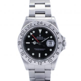 "Rolex Explorer II 16570 ""Swiss Only"" 1999 Box & Certificate Black Dial"