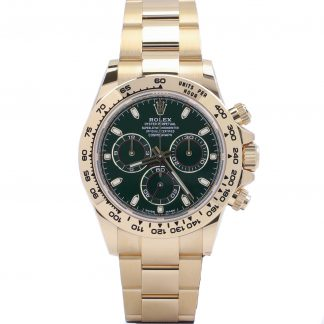 Rolex Daytona Yellow Gold Green Dial 116508 New 2021