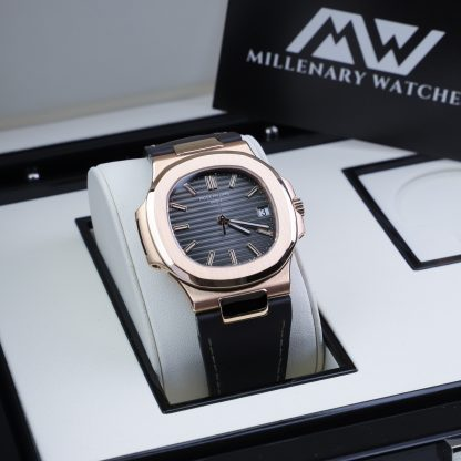 Patek Philippe Nautilus 5711R Rose Gold Leather 2008