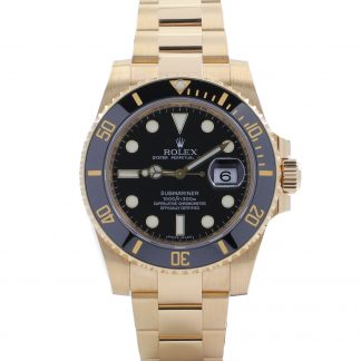 Rolex Submariner Date Yellow Gold Black Dial 116618LN 2010