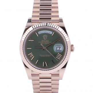 Rolex Day-Date Rose Gold 40mm 60th Anniversary Green Dial New 2021