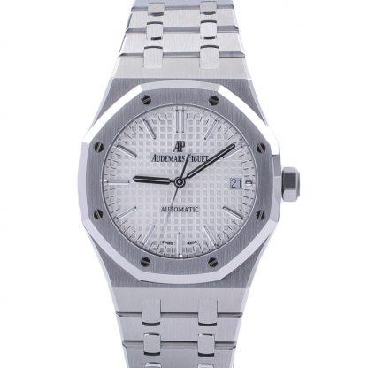 Audemars Piguet Royal Oak 15450ST 2017 Silver/White Dial 37MM Fullset Like New