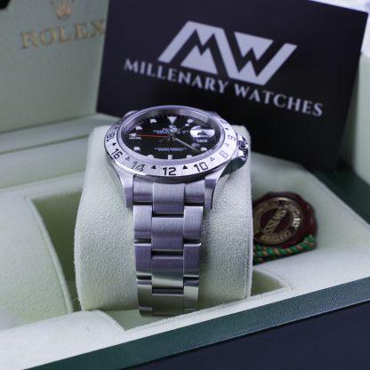 Rolex Explorer II 16570 Black Dial Mint Condition F-Series
