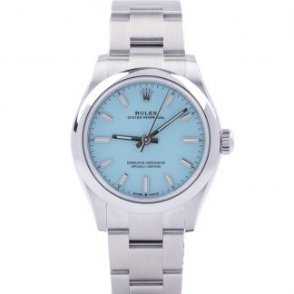 """Rolex Oyster Perpetual Turquoise 31mm 277200 """"Tiffany"""" Unworn 2021"""