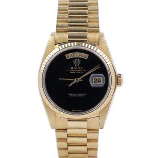 Rolex President Day-Date 18038 Onyx Dial Fullset