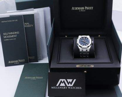 Audemars Piguet Royal Oak 15450ST Blue Dial 37mm Unworn 8/2021