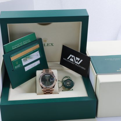 Rolex Day-Date 40 Olive Green 60th Anniversary 228235 2018