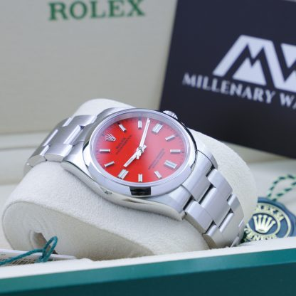 Rolex Oyster Perpetual 36 126000 Coral Red Dial Unworn 2021