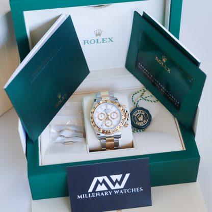 Rolex Daytona Two-Tone White Dial 116503 Unworn 2021