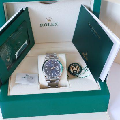 Rolex Datejust 36 126200 Oyster Blue Dial Fullset 2021