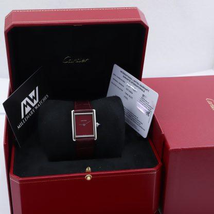 Cartier Tank Must Bordeaux Red WSTA0056 Unworn 2021 Novelty