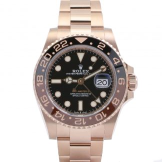 Rolex GMT-Master II 126715CHNR Rose Gold Rootbeer New