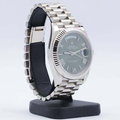 Rolex Day-Date 40 228239 Green Dial Fullset Unworn 2021