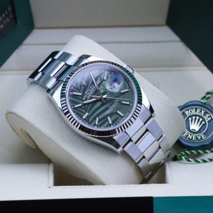 Rolex Datejust 36 126234 Oyster Bracelet Leaf Dial Fullset 2021