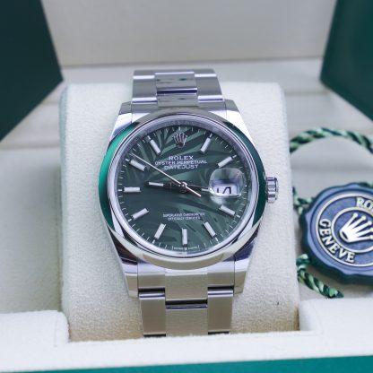 Rolex Datejust 36 126200 Oyster Green Leaf Dial Unworn 2021
