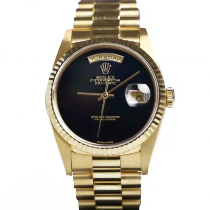Rolex Day-Date 18238 Factory Onyx Dial Mint Condition